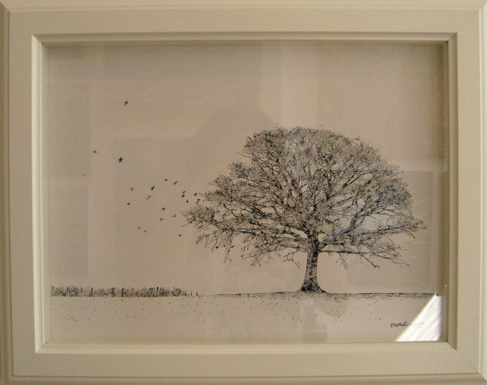 700x553 Tree With Birds Drawing