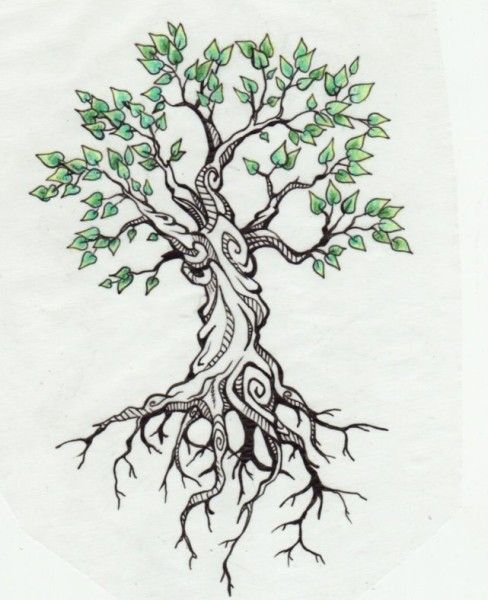 488x600 33 Fantastic Tree Roots Tattoos Designs For Your Body