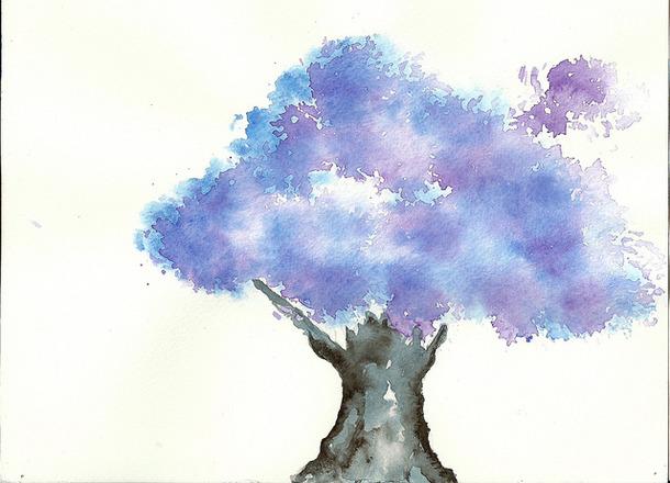 610x440 Art, Drawing, Illustration, Painting, Tree