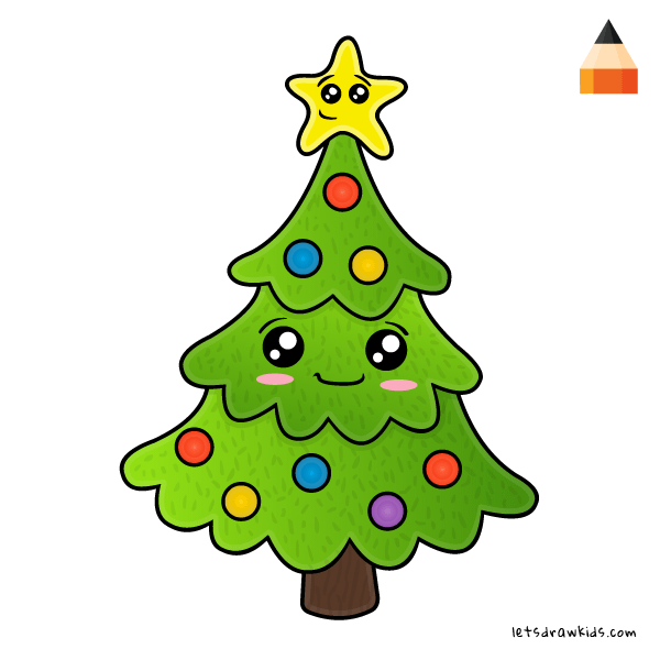 600x600 How To Draw Christmas Tree
