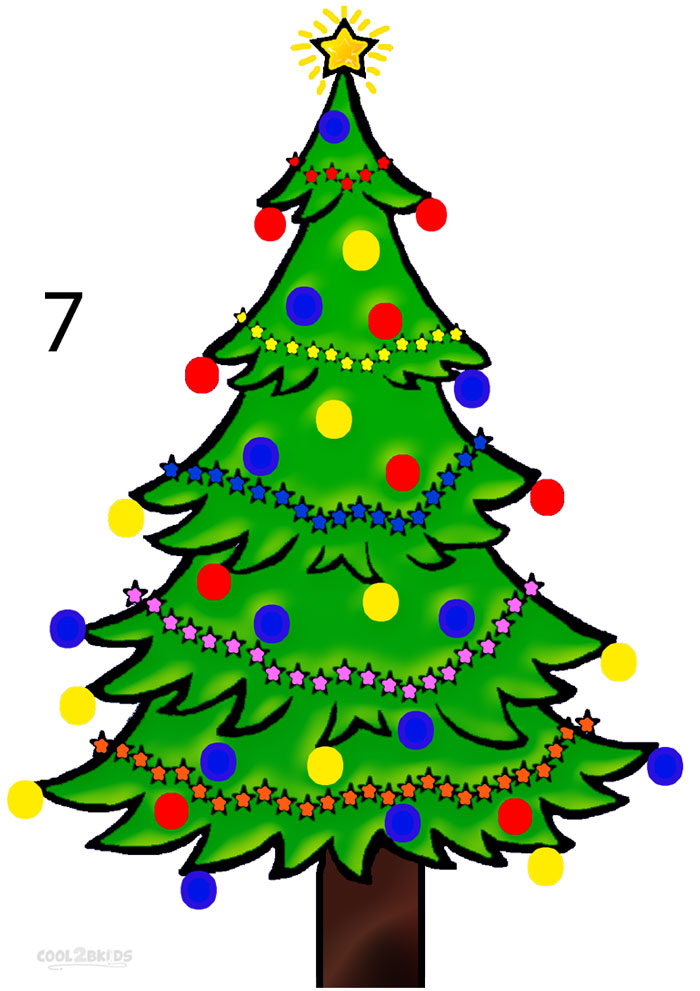 700x991 How to Draw a Christmas Tree (Step by Step Pictures) Cool2bKids