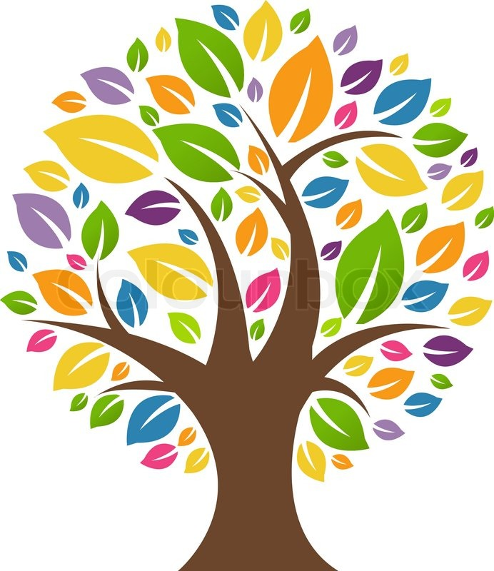 692x800 Color Tree Stock Vector Colourbox