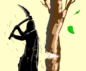 300x250 grim reaper cutting down a tree
