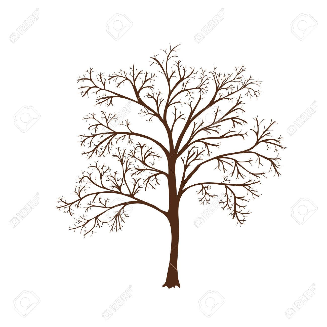 1300x1300 Icon Silhouette Of A Tree With No Leaves Royalty Free Cliparts