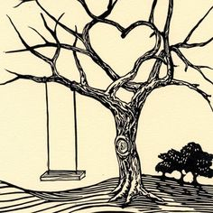 236x236 Simple Black And White Tree Drawing