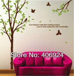 299x305 New Arrival Removable Fashion Drawing Room Vinyl Wall Stickers