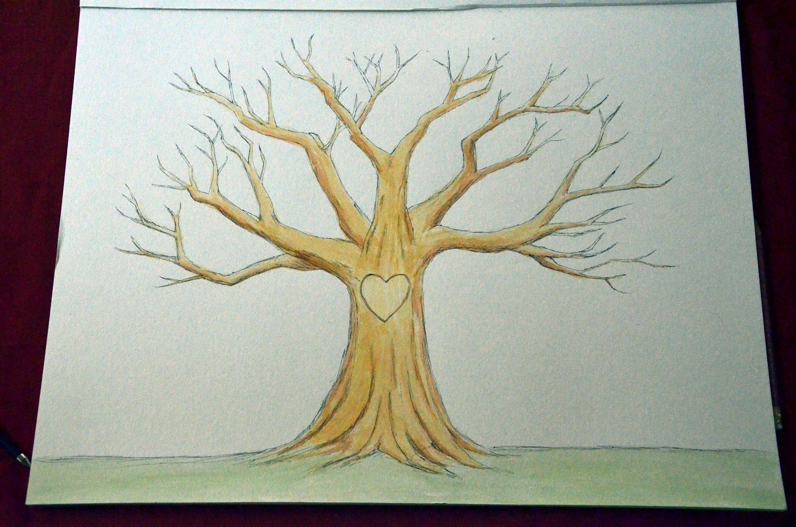 Tree Drawing Without Leaves at GetDrawings | Free download