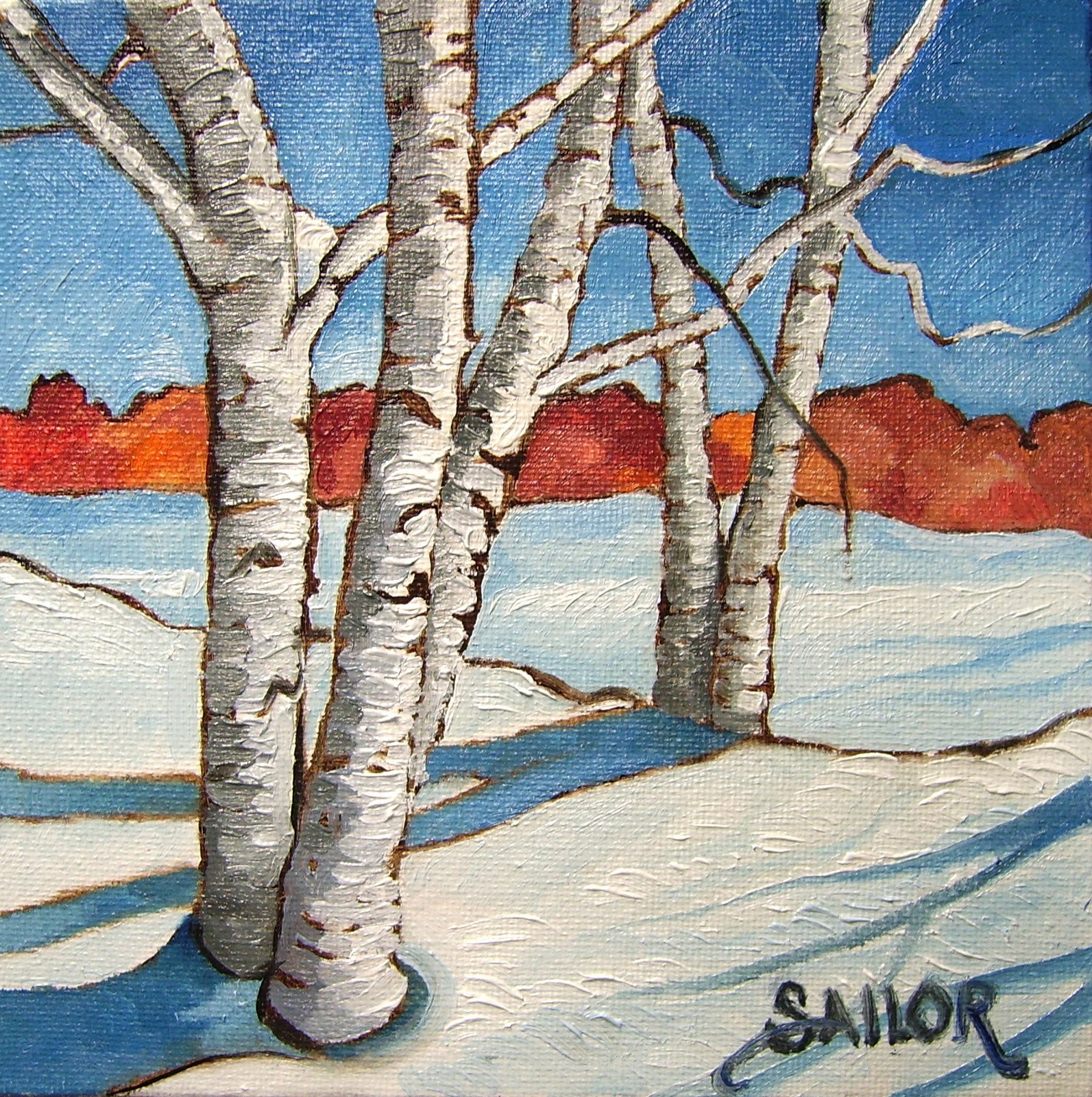 1593x1600 Winter Tree Art Today's Daily