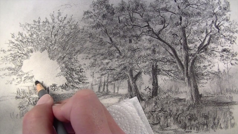 800x450 How To Draw With Charcoal Pencils A Landscape Sketch