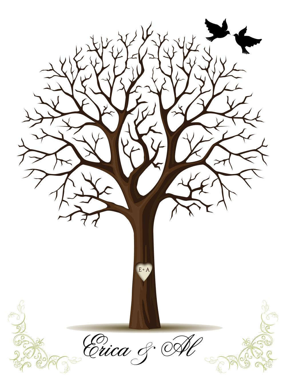 1000x1333 Tree Without Leaves Silhouette