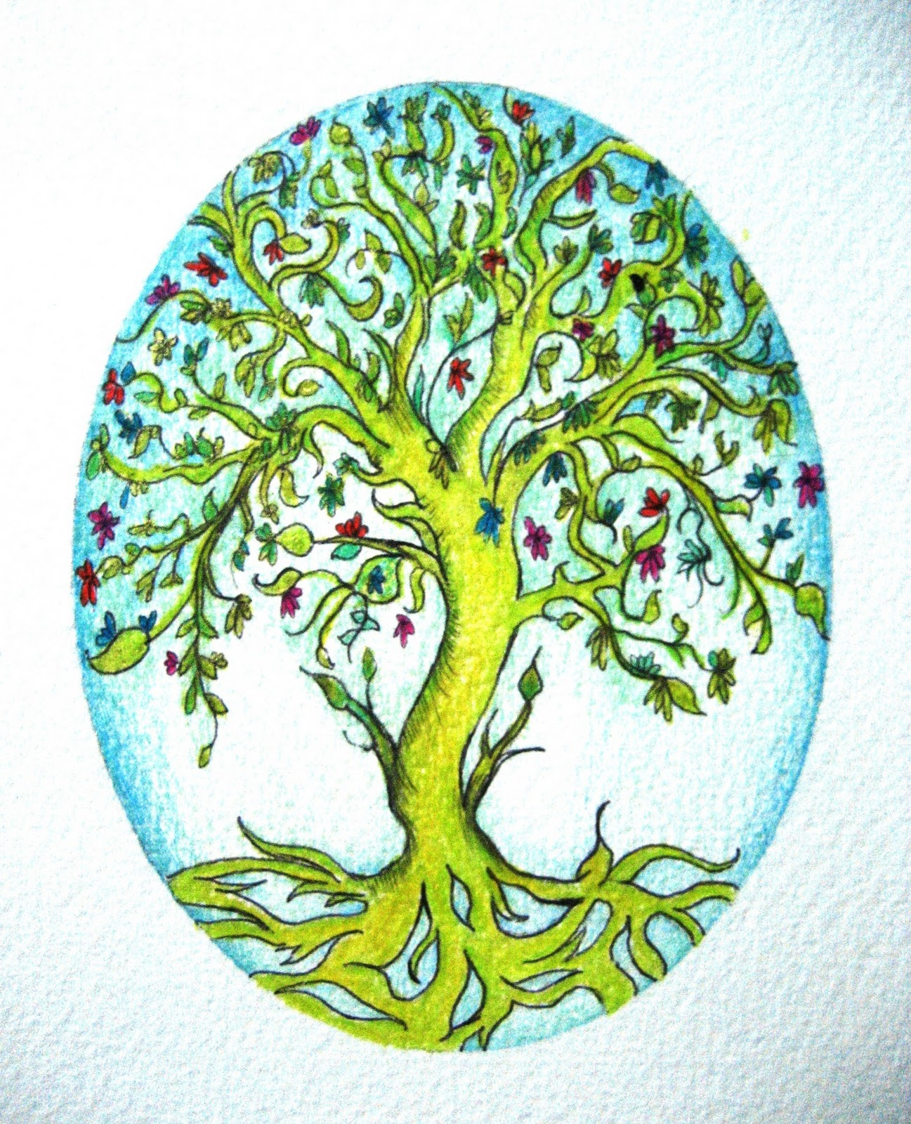Tree Of Life Drawing at GetDrawings.com | Free for personal use Tree ...