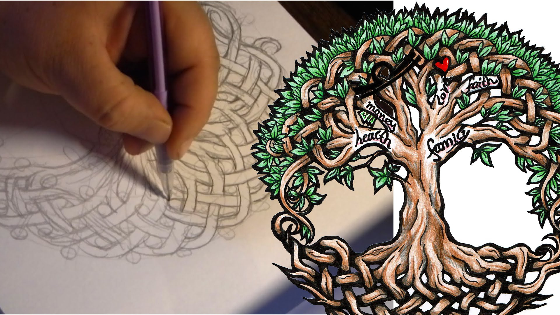 1920x1080 Tree Of Life Drawings Celtic Drawing Tattoo Design