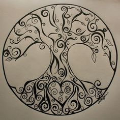 236x236 Full Moon Tree Of Life Mandala Drawing