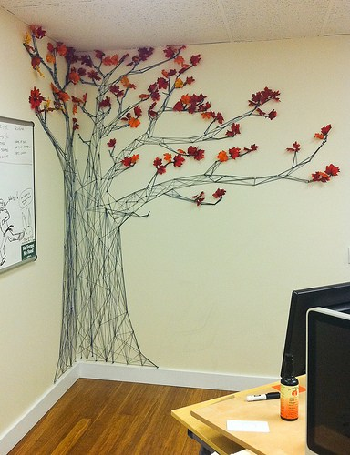 384x500 Drawing With Yarn The Completed Tree