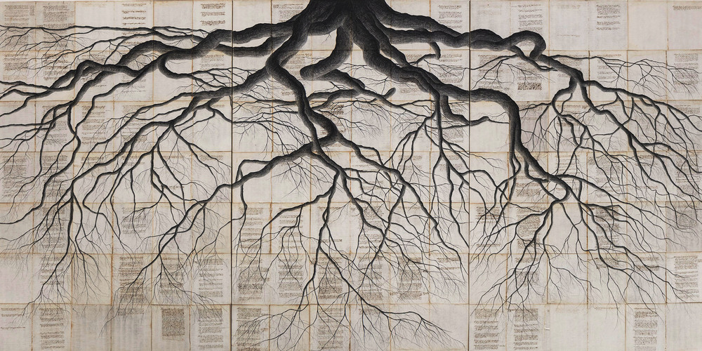 1000x500 Profound Drawings Tree Roots Symbolically Connecting Pages