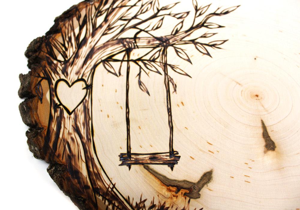 1000x699 Tree Swing Country Design Wood Slice Rustic Theme Jkartshop