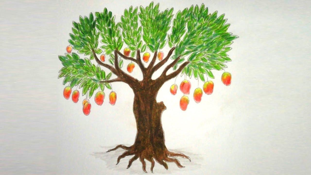 1280x720 Easy Tree Drawing With Roots Simple Living Tree In The World Places