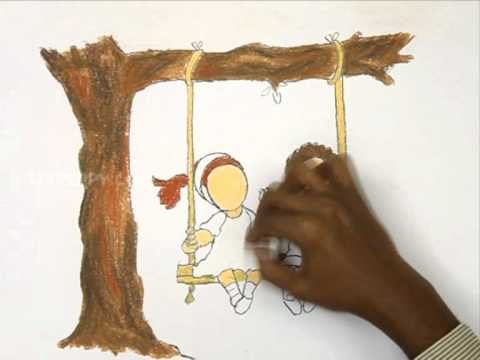 480x360 How To Draw The Kids Playing In Swing