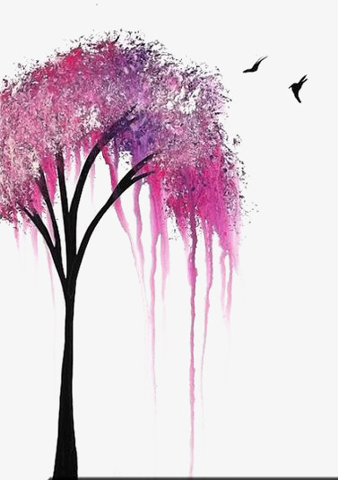 377x535 Drawing Trees, Creative Trees, Pink Trees, Sapling Png Image