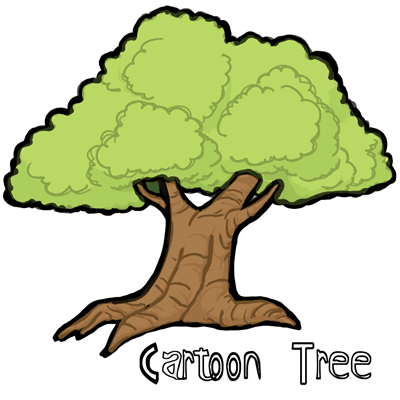400x400 How To Draw Cartoon Trees With Easy Step By Step Drawing Tutorial