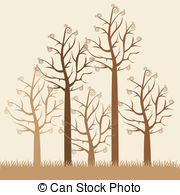 180x195 Illustrations Of Green Trees Without Leaves, Vector Clipart