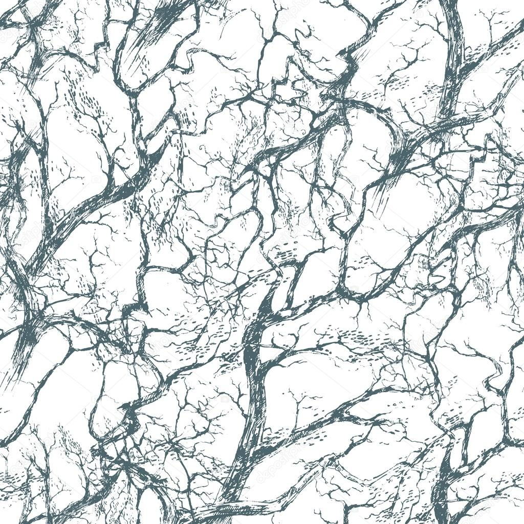 1024x1024 Seamless Pattern. The Intersecting Branches Of The Trees. Tree