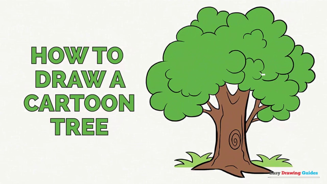 1280x720 How To Draw A Cartoon Tree In A Few Easy Steps Drawing Tutorial
