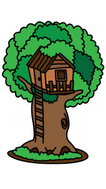 215x382 How To Draw A Tree House, Kids Stuff, Easy Step By Step Drawing