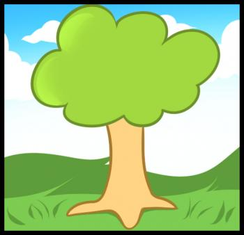 350x338 How To Draw How To Draw A Tree For Kids