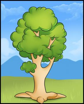 284x350 How To Draw How To Draw An Easy Tree
