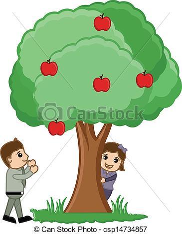 365x470 Kids Playing Around Tree