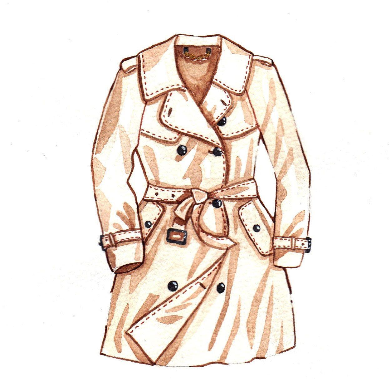1253x1253 Mochni Trench Coat Drawing Dibujos Dibujos Trench