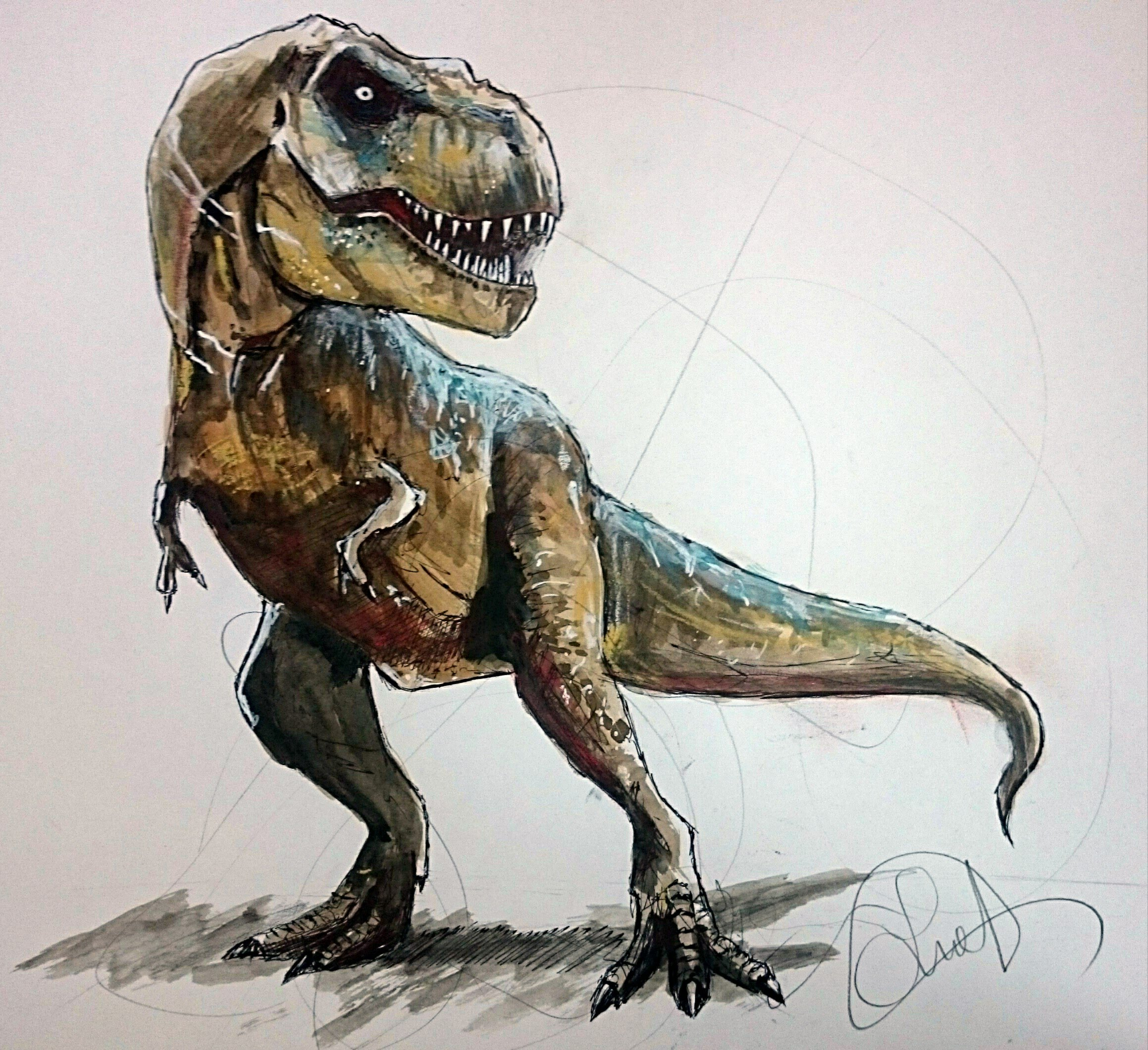 2318x2122 Speed Drawing T Rex (Jurassic World) Speed Art Samuel Romero