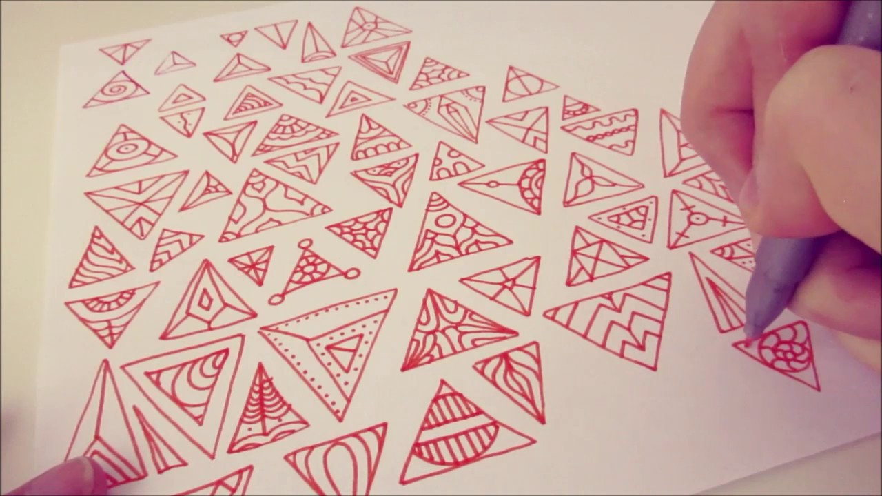 1280x720 Simple Triangle Designs For Abstract Art And Doodling