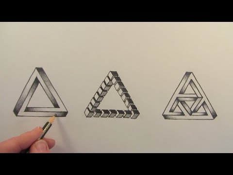 480x360 How To Draw The Impossible Triangle In 3 Different Ways Narrated