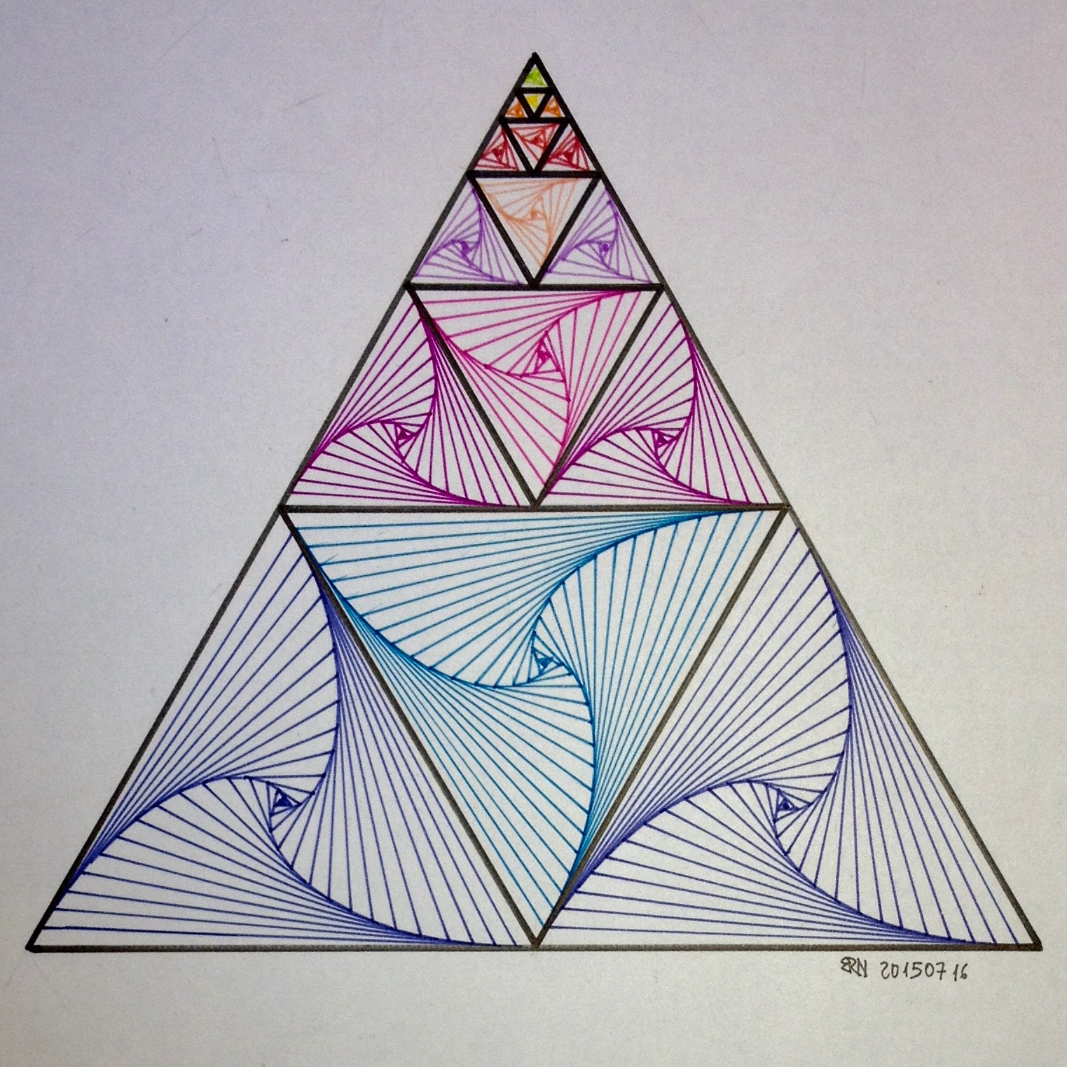 how to get a triangle