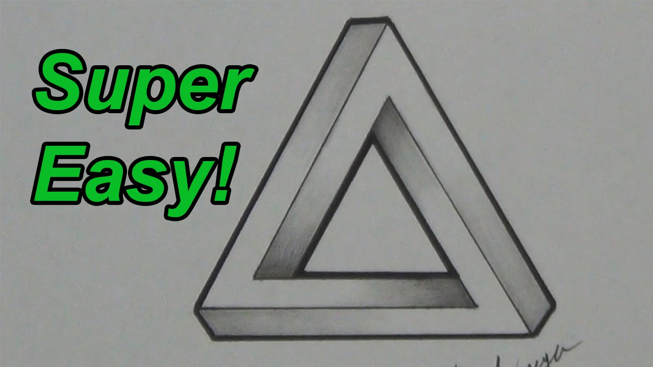 1280x720 How To Draw An Impossible Triangle Optical Illusion