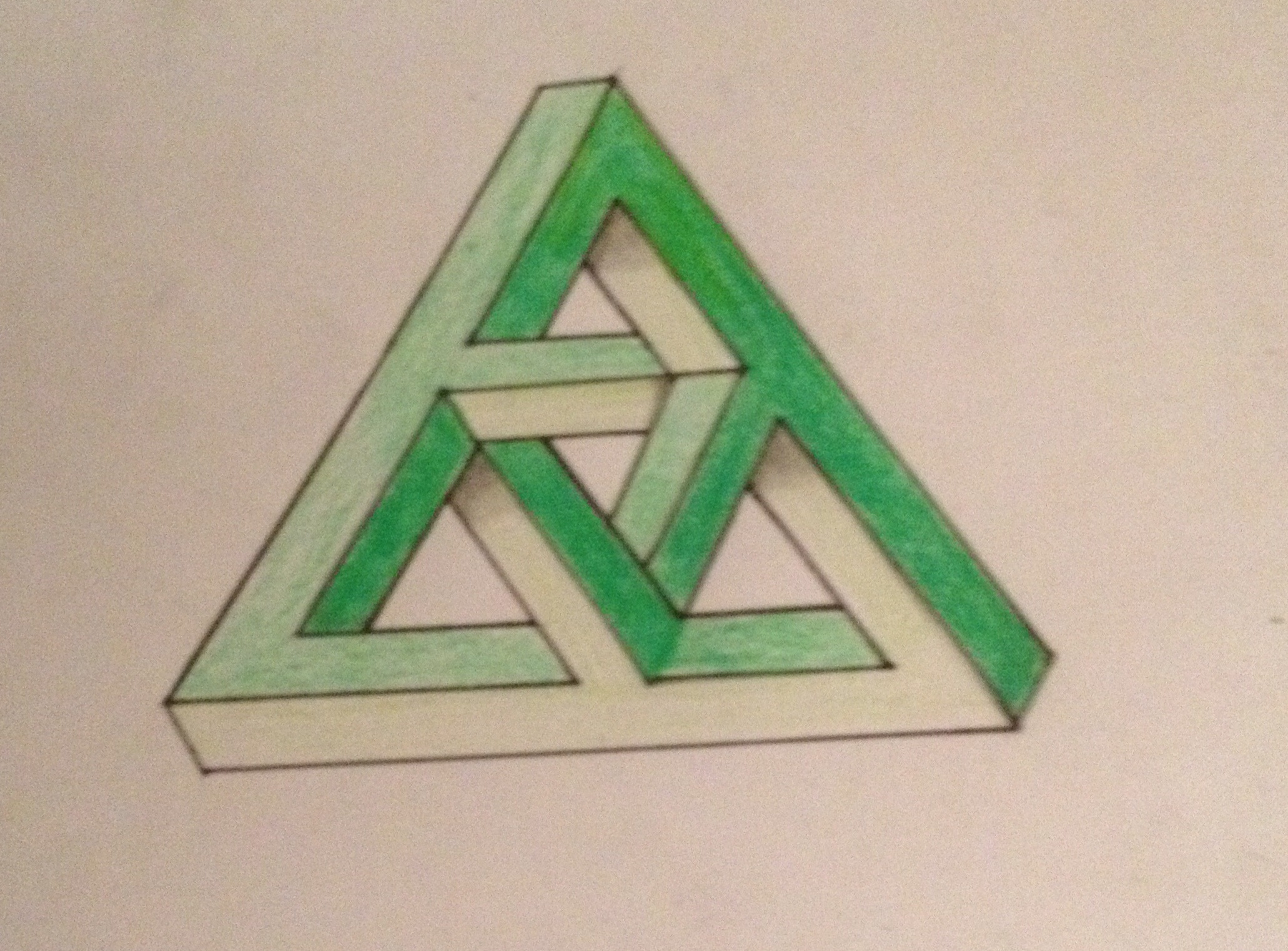 Penrose triangle: paper hands 58