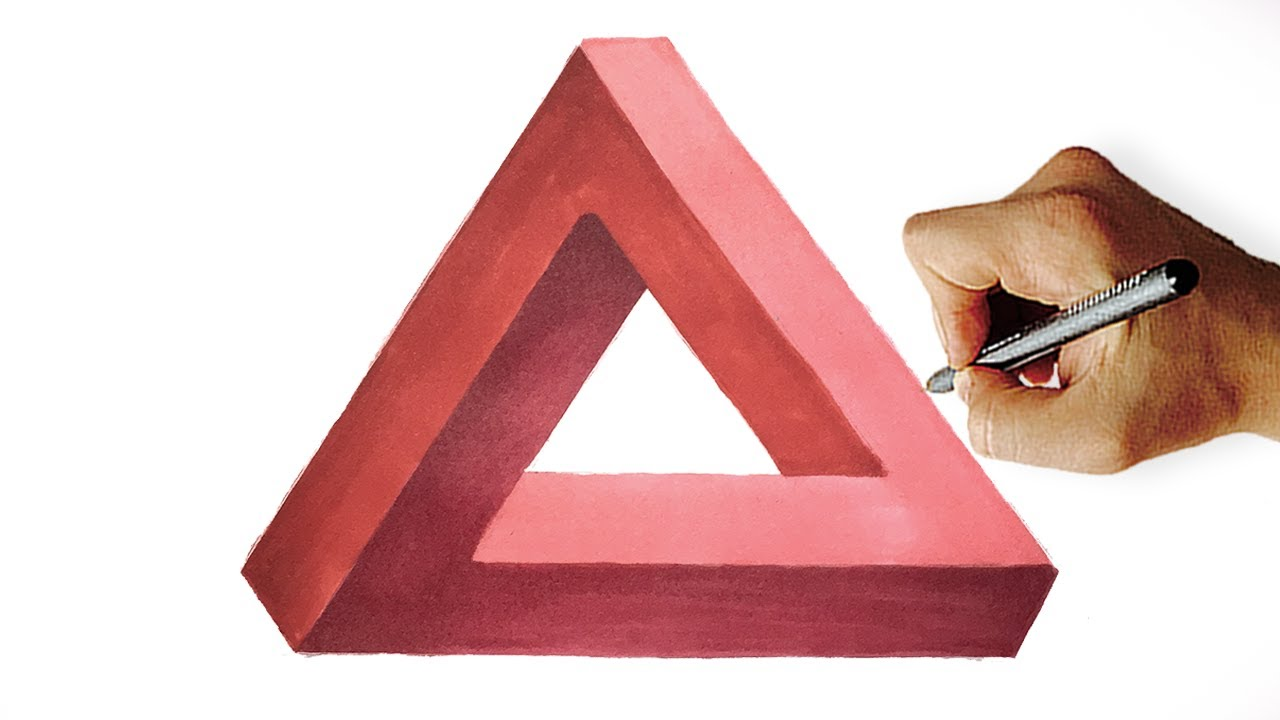 1280x720 How To Draw Impossible Triangle