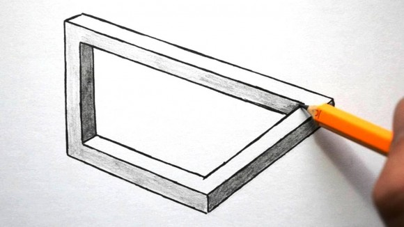 580x326 How To Draw Optical Illusions Rectangle, Triangle, And Circle