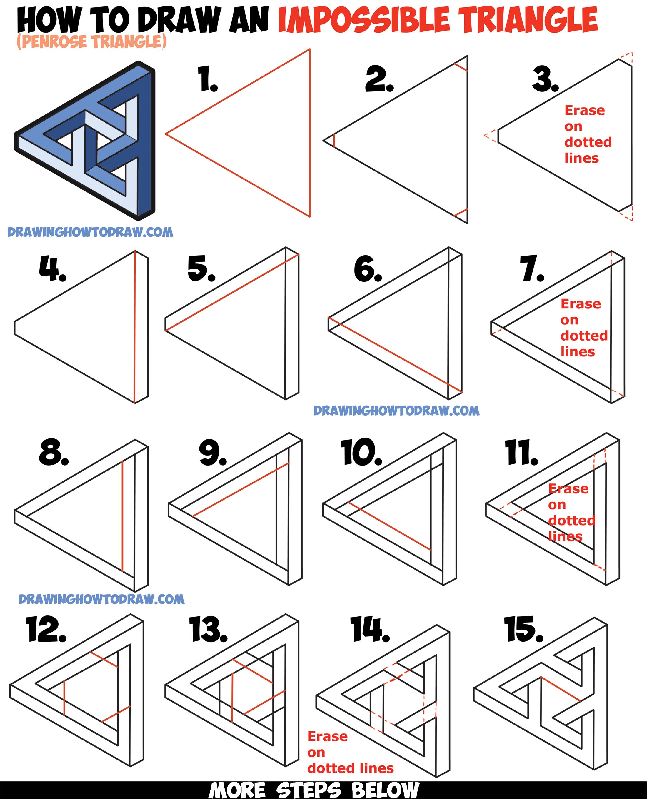 2200x2717 How To Draw An Impossible Triangle (Penrose Triangle) That Looks