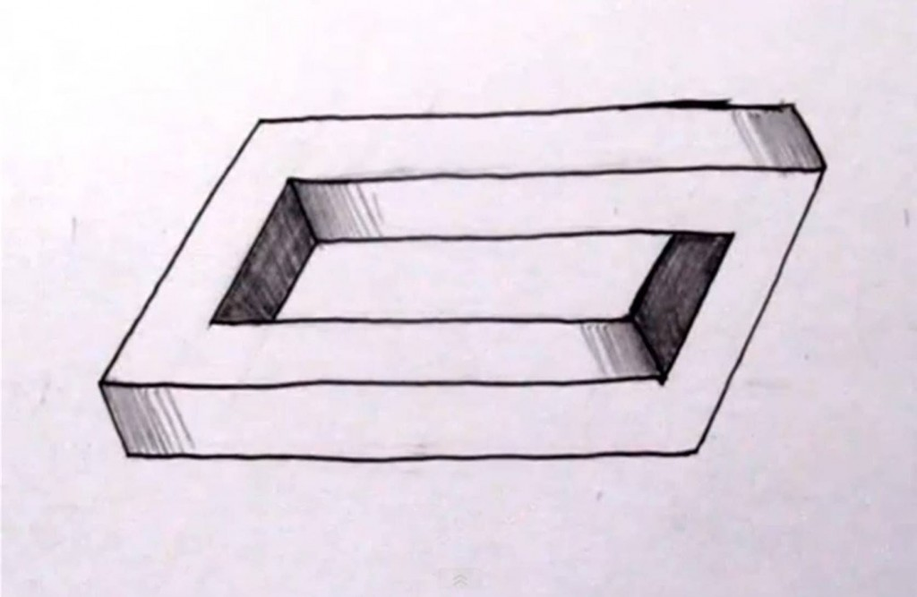 1024x667 How To Draw A Penrose Rectangle Amp Other Impossible Objects