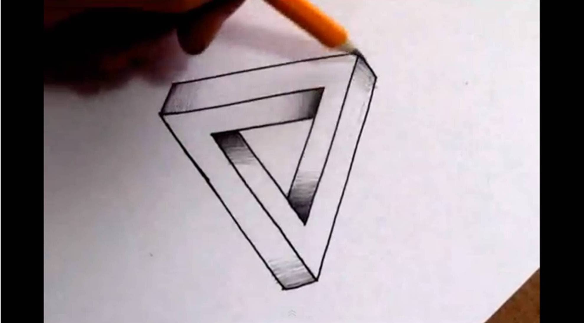 1986x1098 Simple 3d Illusion Drawings How To Draw The Impossible Triangle