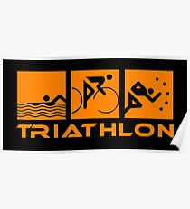 210x230 Triathlon Drawing Posters Redbubble