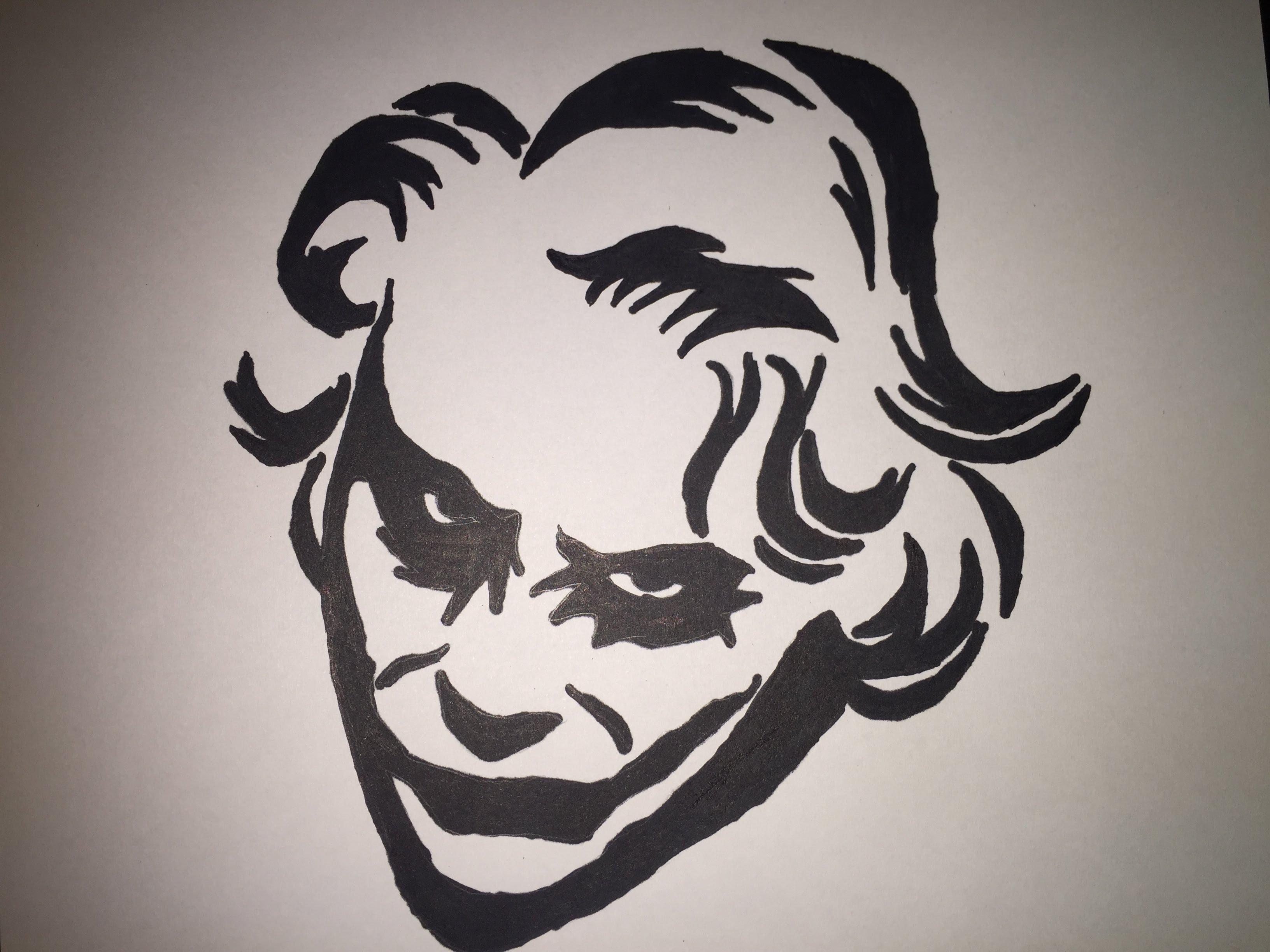 3264x2448 How To Draw Joker!!! (Tribal Art)