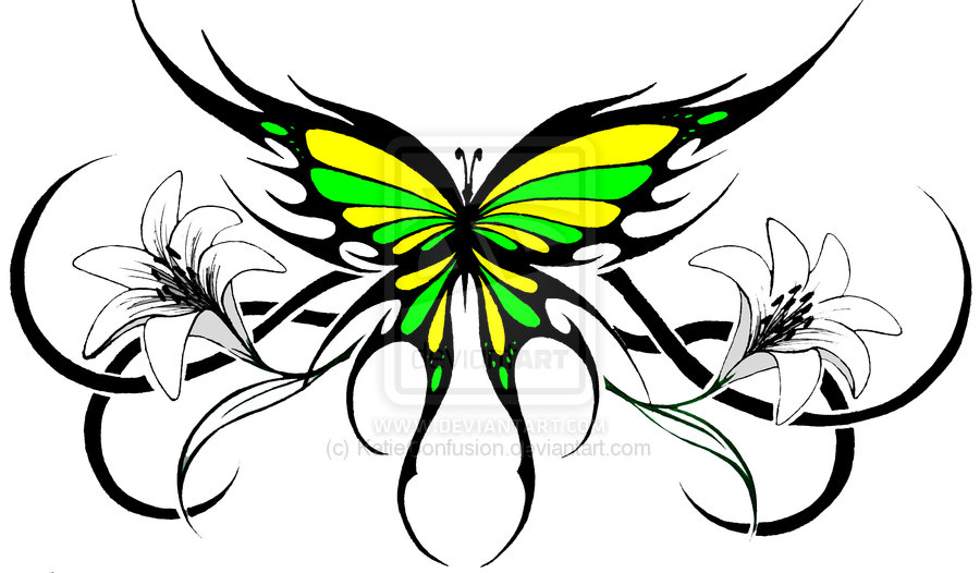e8cc48d20 Tribal Butterfly Drawing at GetDrawings.com   Free for personal use ...