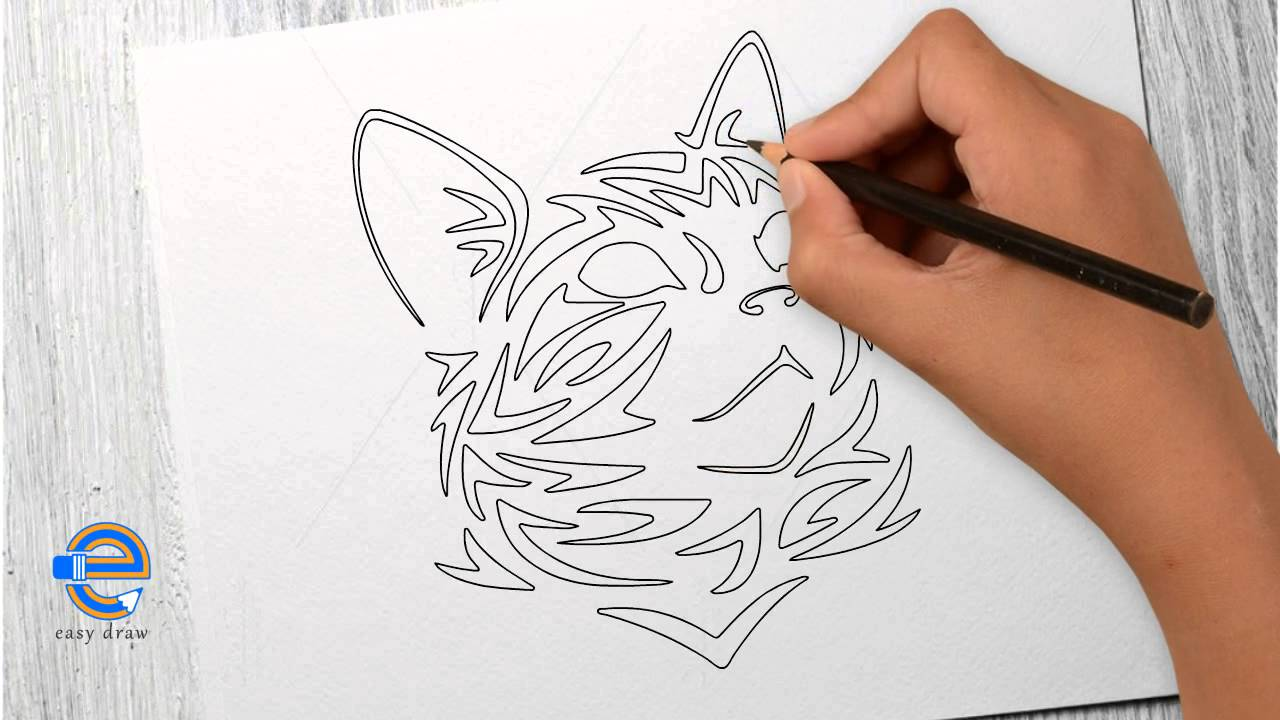 1280x720 How To Draw A Cat In Tribal Version Easy Draw