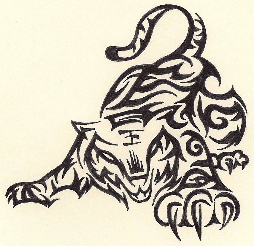 856x829 Tribal Tiger Tribal Tribal Tiger, Tatting And Body