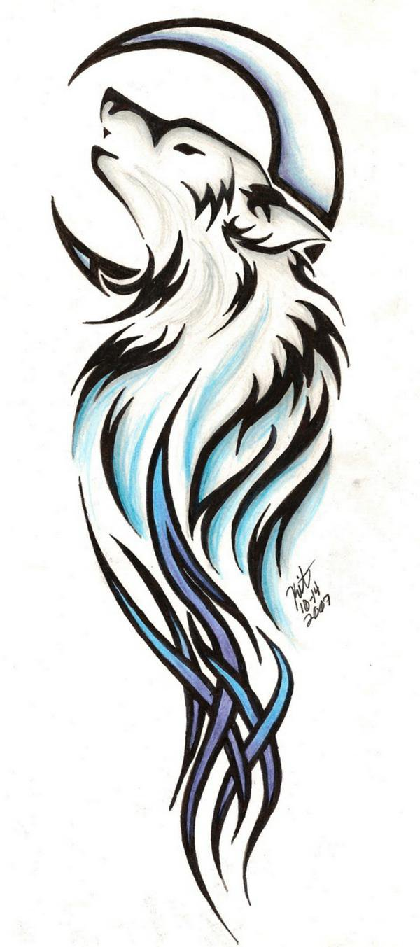 600x1353 Tribal Wolf Tattoos Designs And Ideas
