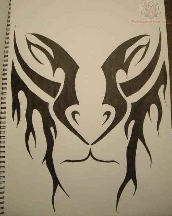 564x708 Tribal Lion Tattoo Drawing.jpg 420